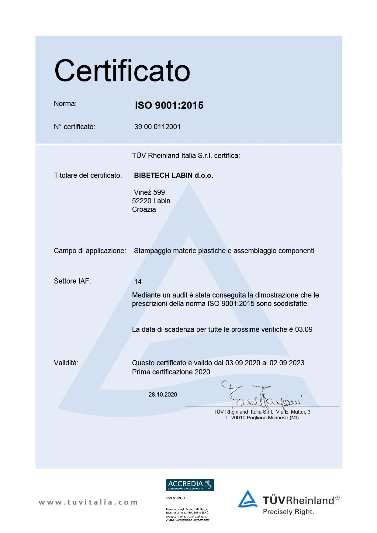 I Nostri Certificati